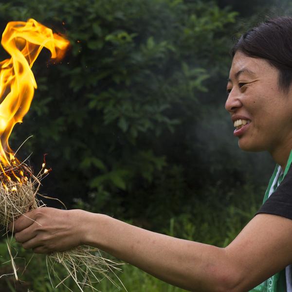 もみぎり式火おこしお試しセット(解説書付き)