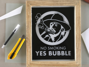 no smoking, yes bubble