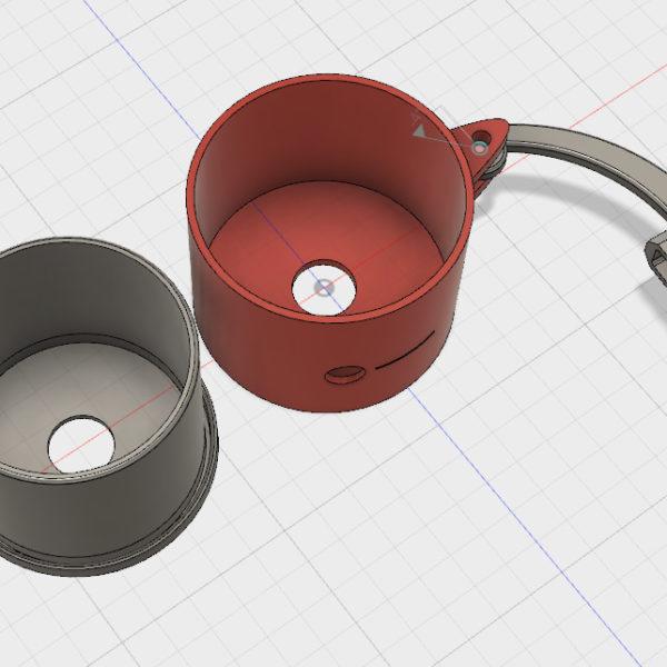 アルミ缶切断ジグ(3Dプリント製- 材質PLA)